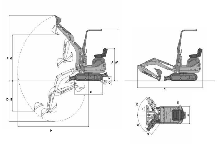 Малый дизельный гусеничный экскаватор 803 Wacker Neuson